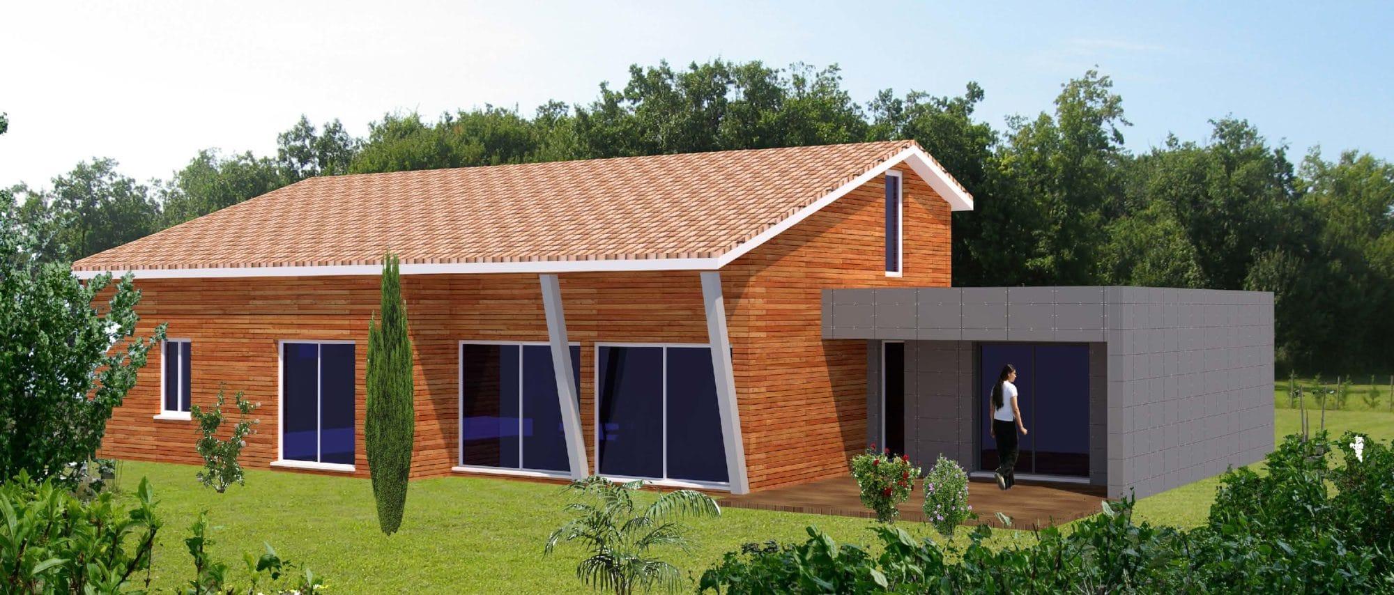 Extension ossature bois pour agrandir votre maison for Agrandir maison bois