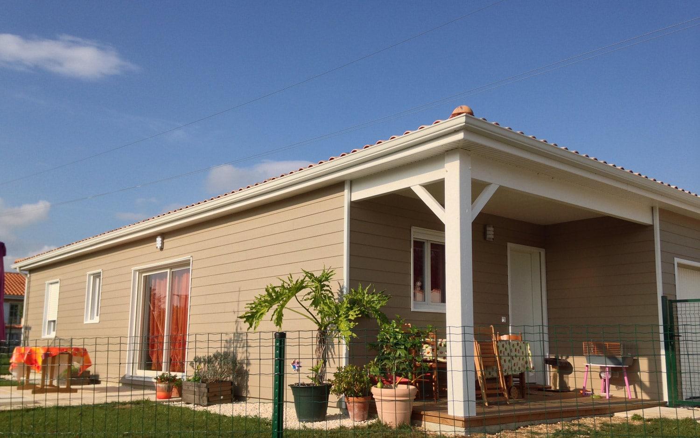 maison bois personnalis e surface habitable 83 40 m2 en charente. Black Bedroom Furniture Sets. Home Design Ideas