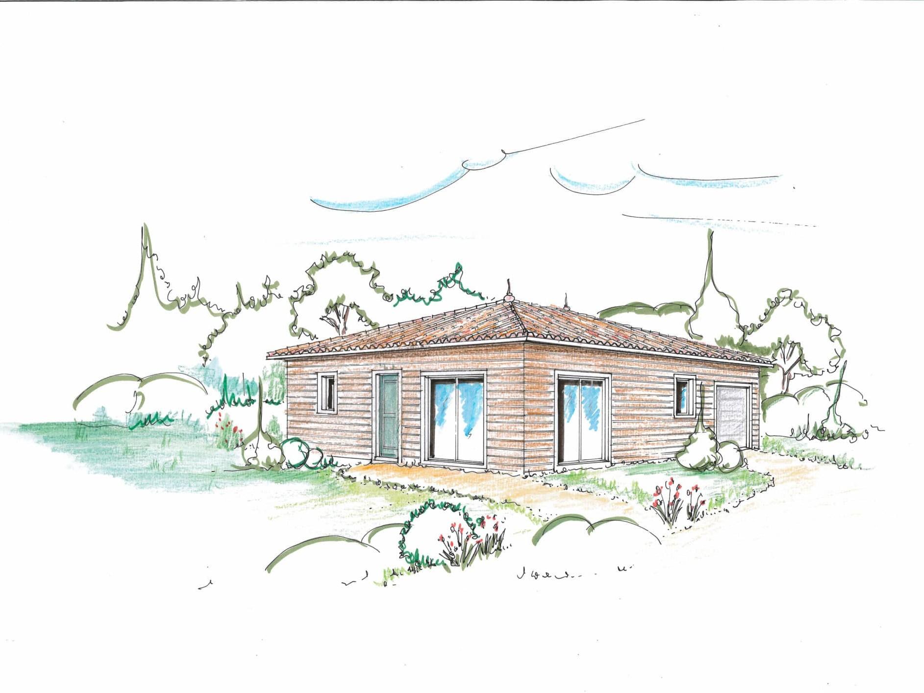 Maison personnalisée bois mp04