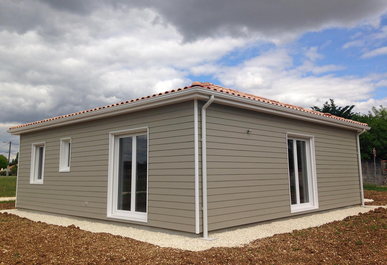 maison bois personnalis e surface habitable 77 73 m2 en charente. Black Bedroom Furniture Sets. Home Design Ideas